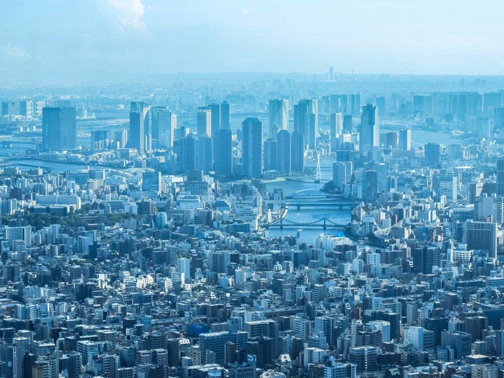 skyline skyscrapers panorama panoramic